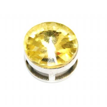 5pcs x 16.5mm Rhodium sliding bead with yellow colour rhinestone -- S.A -- WC201 - 4000111